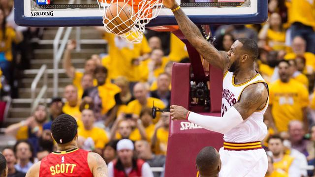 Cavaliers winnen eerste duel met Hawks in halve finales NBA
