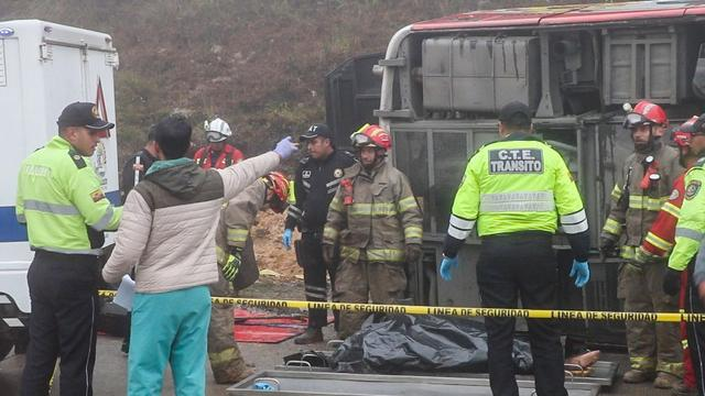 Zeker elf doden door busongeluk in Andesgebergte Ecuador