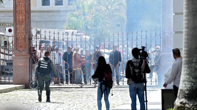 Betogers bestormen parlementsgebouw Venezuela