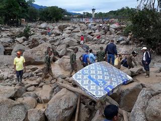 In de stad Mocoa zijn complete wijken verwoest