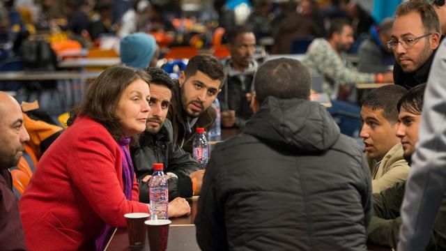 Vluchtelingen Jaarbeurs bedanken burgemeester en stad voor opvang