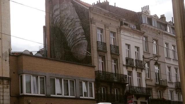 Expliciete muurschildering Brussel moet weg