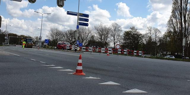 Europaweg tot maandagmiddag afgesloten vanwege werkzaamheden