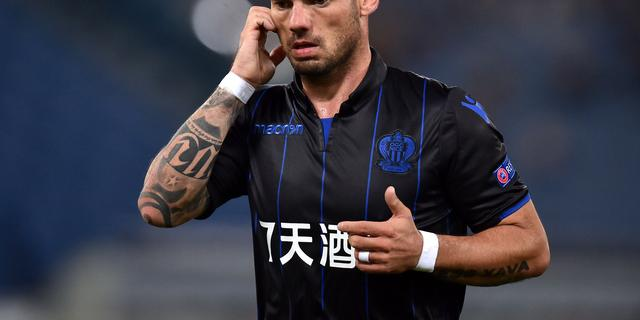 'Sneijder verlaat Nice en tekent zondag contract bij Qatarees Al-Gharafa'
