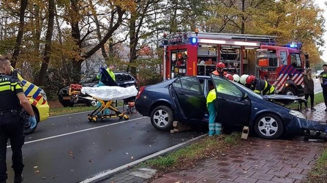 Automobilist verliest macht over het stuur in Wernhout