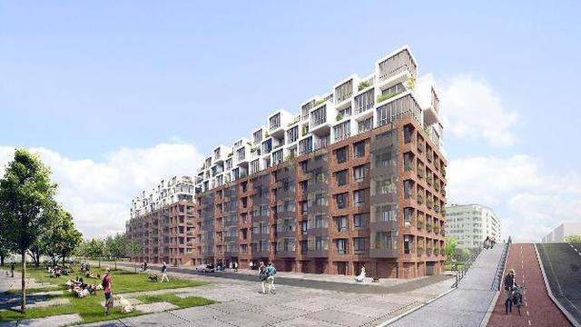 Kantoorgebouwen Joan Muyskenweg omgebouwd tot 191 appartementen