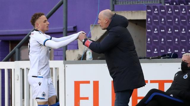 Noa Lang maakte zondag zijn rentree bij Club Brugge en scoorde meteen.