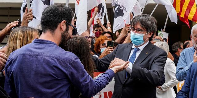 Voormalige Catalaanse leider Puigdemont voorlopig niet uitgeleverd aan Spanje