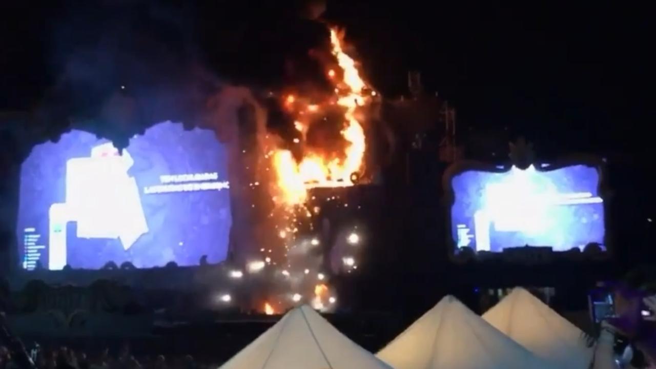 Grote brand op festival Tomorrowland in Barcelona