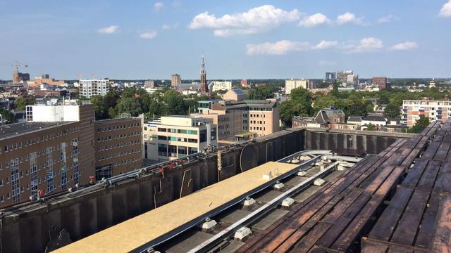 Noorderzon-voorstelling op dak van The Big Building
