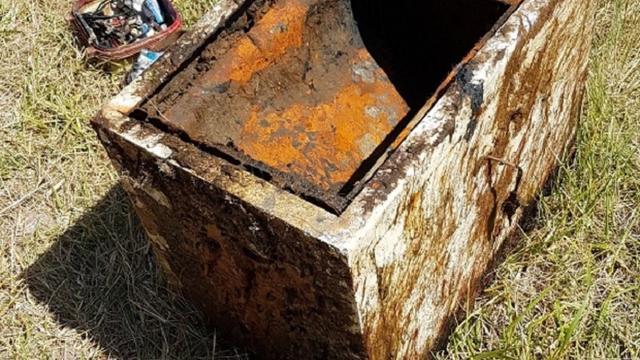 Kluis aangetroffen in het Sas bij Wilhelminadorp
