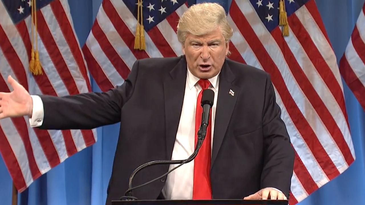 Alec Baldwin imiteert Trump in SNL
