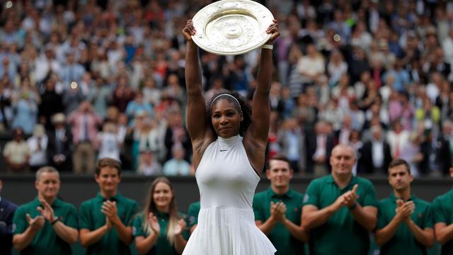 Record Graf hield Williams bezig tijdens Wimbledon-finale
