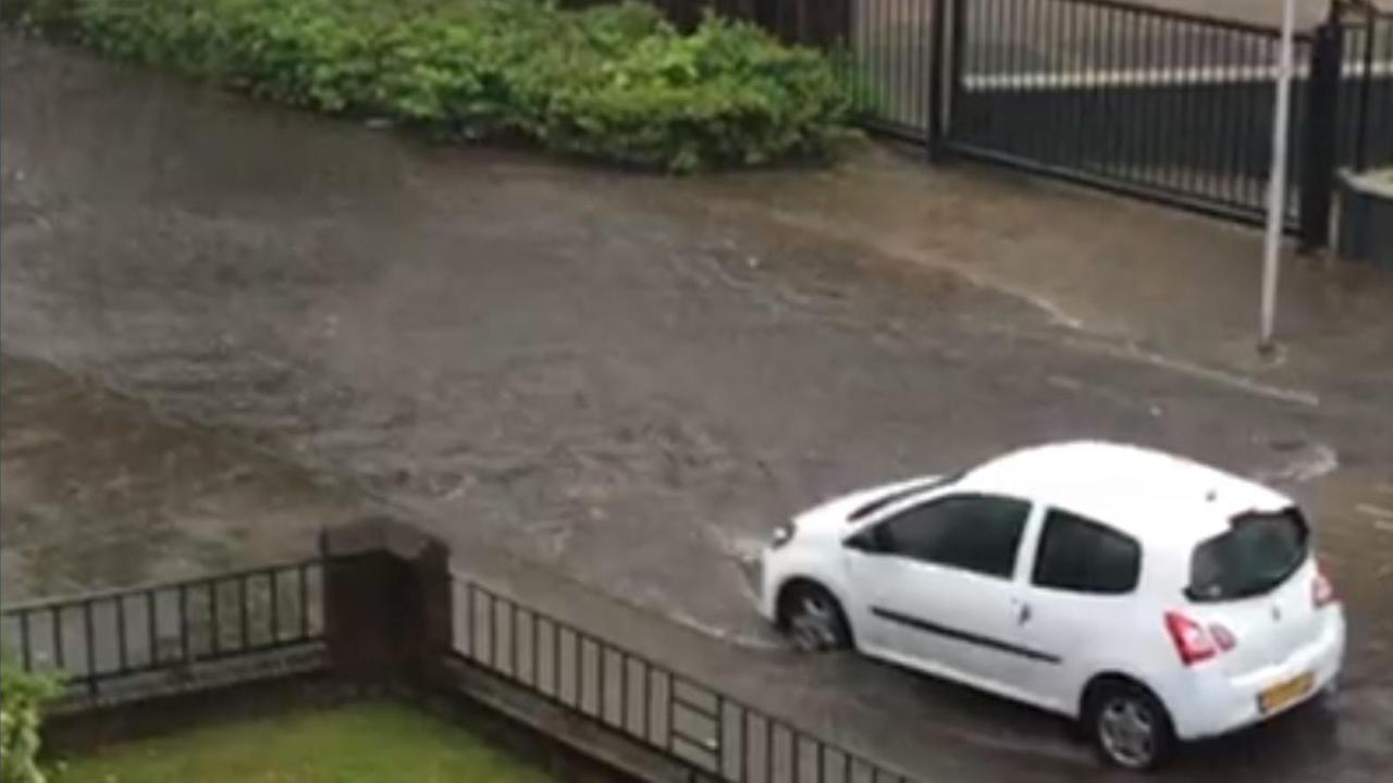 Compilatie: Wateroverlast in Nederland