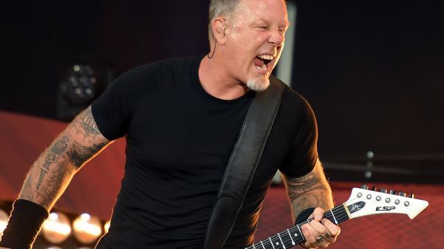 Rockband Metallica op tournee door Noord-Amerika