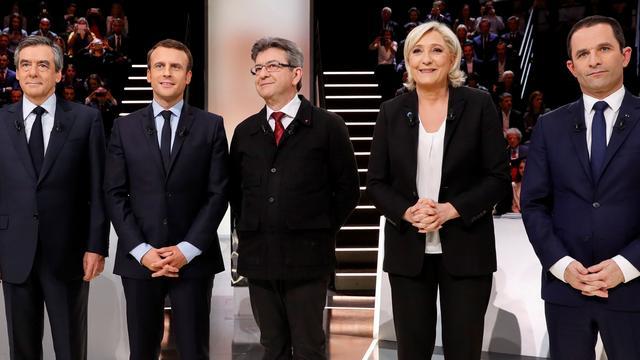 Macron sterkste kandidaat tijdens eerste Franse verkiezingsdebat