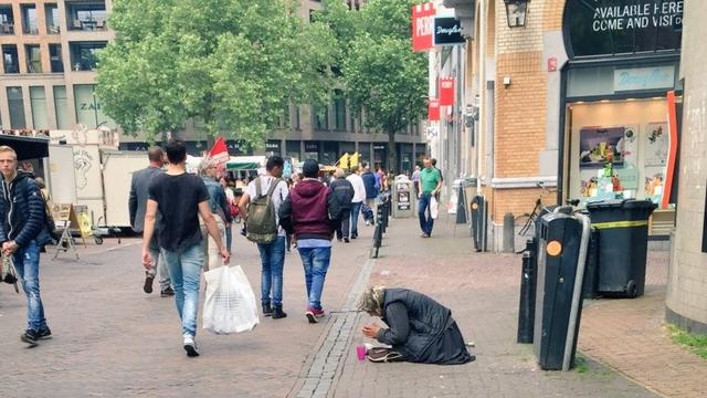 Aantal bedelaars uit Midden- en Oost-Europa verminderd in Utrechtse binnenstad