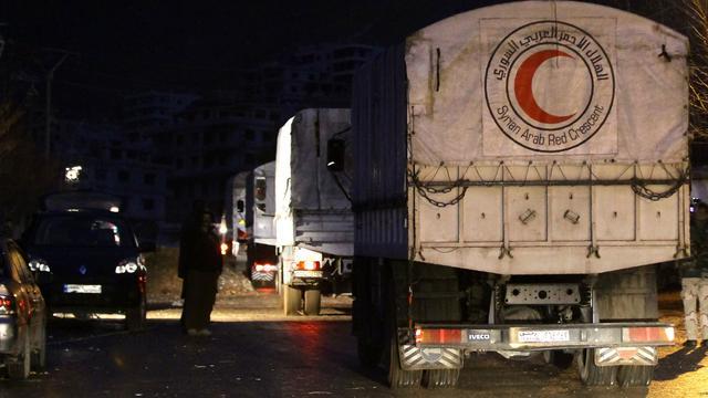 Syrische regering geeft toestemming voor nieuwe hulpkonvooien