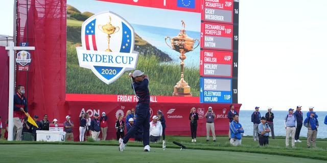 Amerikaanse golfers nemen op Ryder Cup flinke voorsprong op Europa