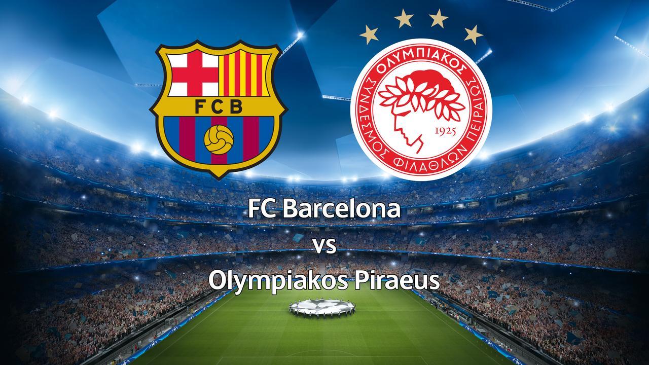 Live: FC Barcelona-Olympiakos Piraeus