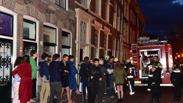 Studenten op straat vanwege brandje badkamer