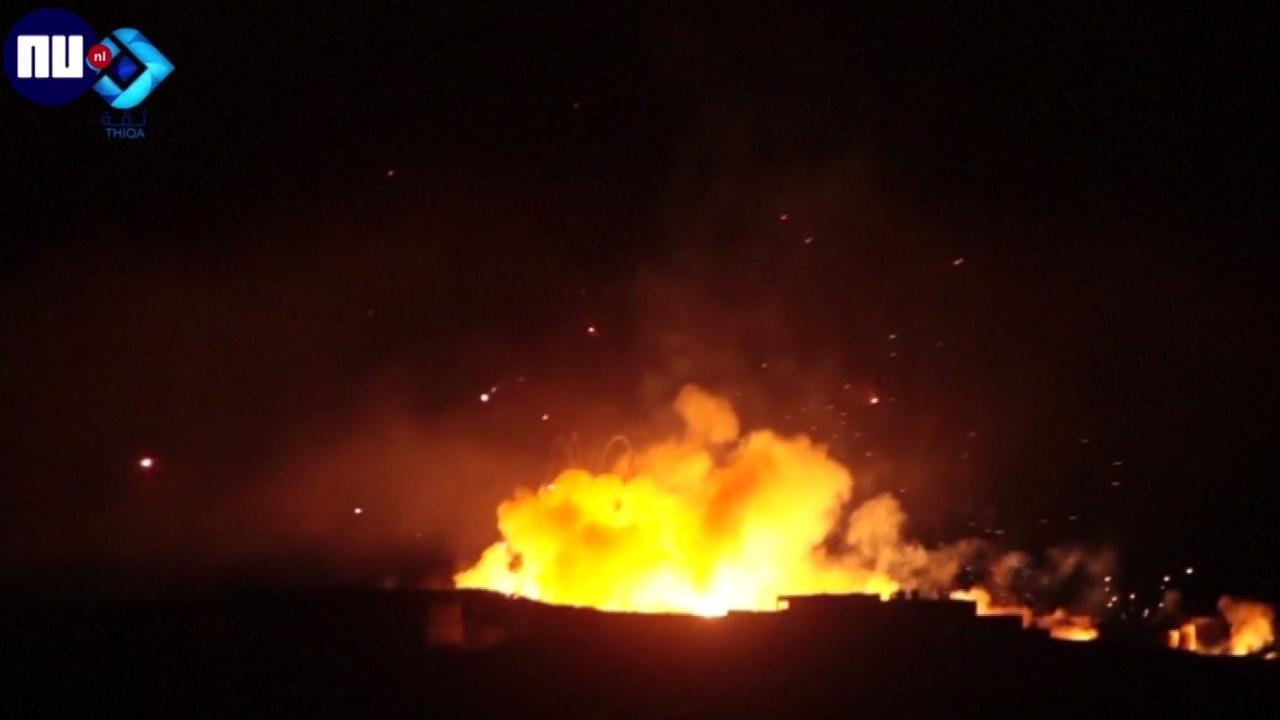 Wijken in Aleppo zwaar gebombardeerd