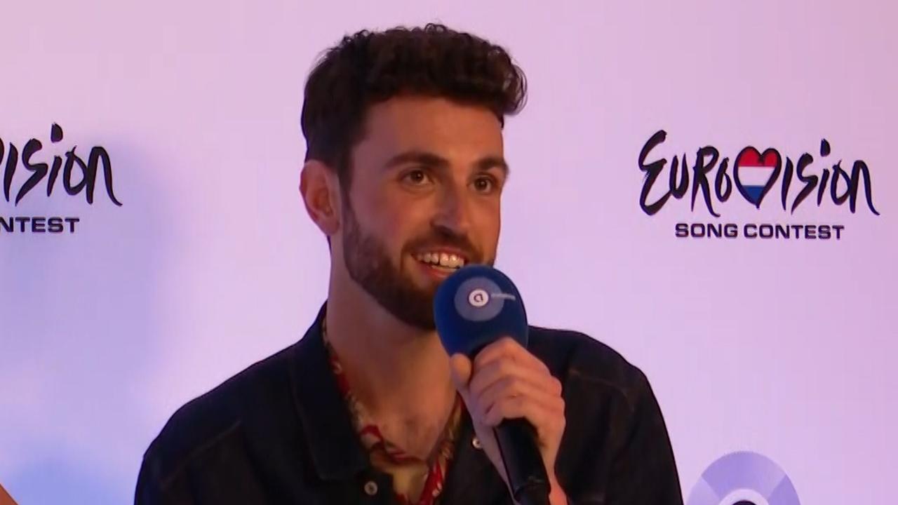 Duncan na aankomst op Schiphol: 'Ik hoop mensen te inspireren'