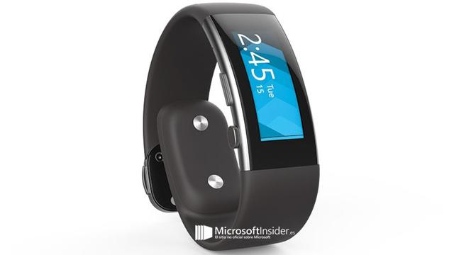 'Microsoft Band 2 met gebogen scherm te zien op foto'