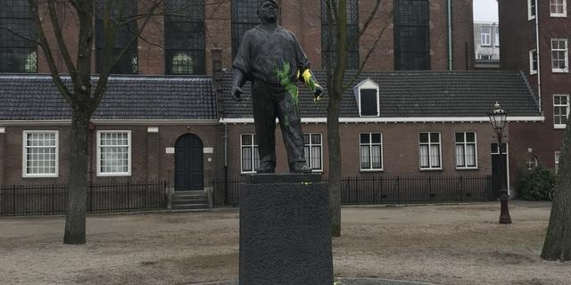 Meerdere plekken in Amsterdam besmeurd met verf en anti-Joodse leuzen