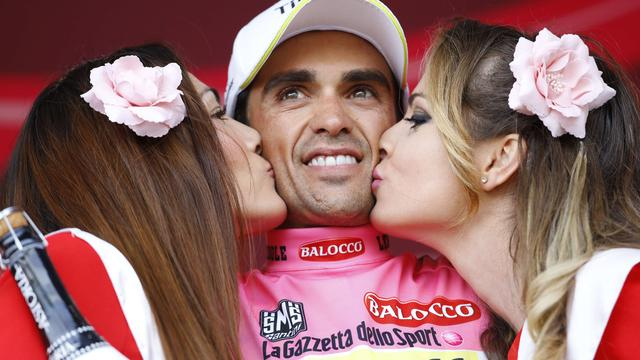 Contador pakt leiderstrui in vijfde rit Giro, etappezege Polanc