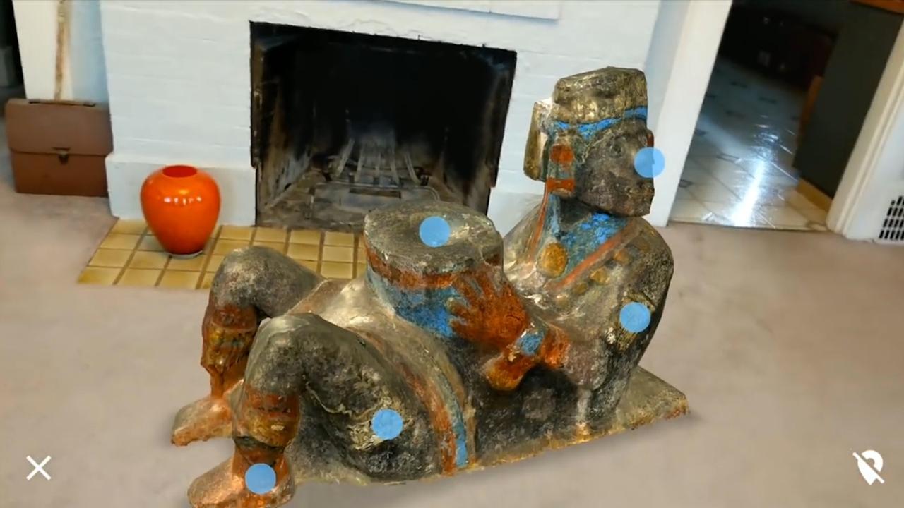 Museumstukken in huis met augmented reality