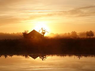 Maandag 3 augustus: Nevel en mist zorgen voor een mooi tafereel in Zuidoost-Brabant.