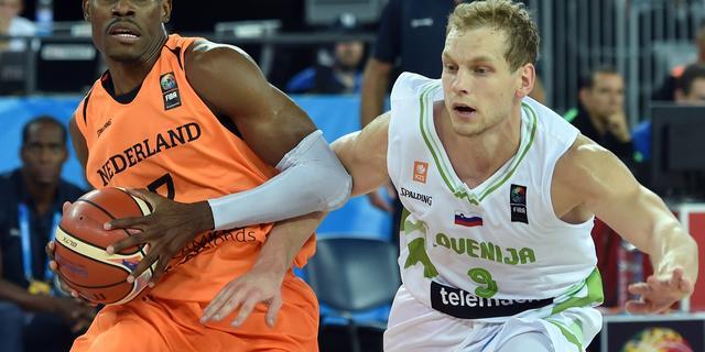 Basketballers verliezen in derde EK-duel van Slovenië