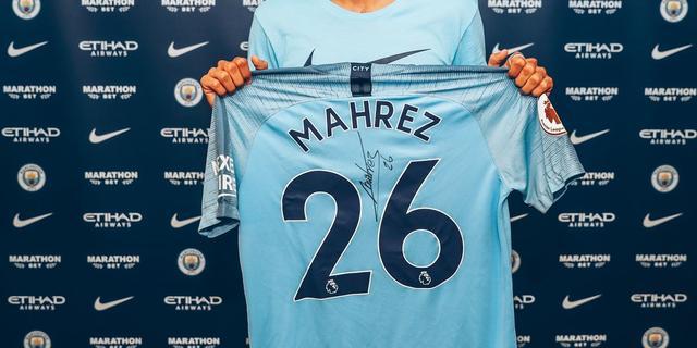 Manchester City legt Leicester-middenvelder Mahrez voor vijf jaar vast