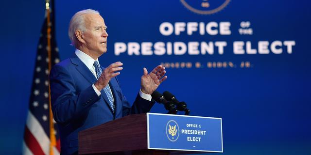 Onderdeel site van Joe Biden met Turkse teksten beklad