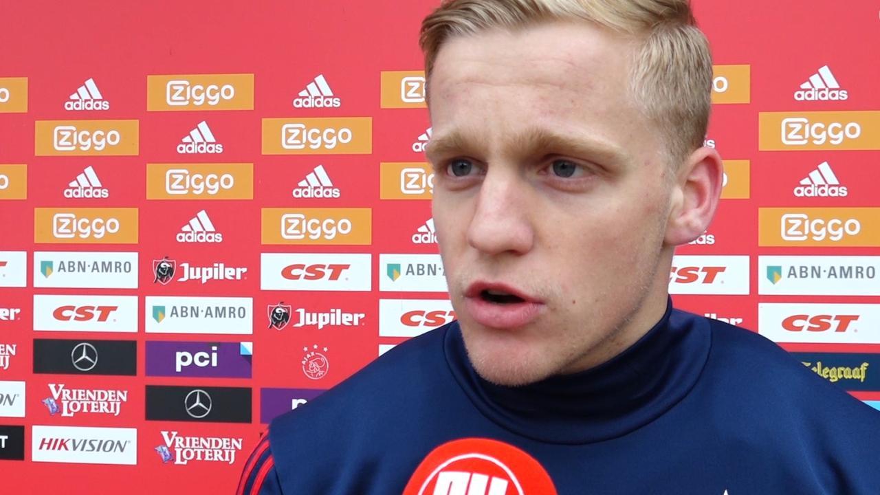 Van de Beek vindt seizoen mislukt als Ajax geen kampioen wordt