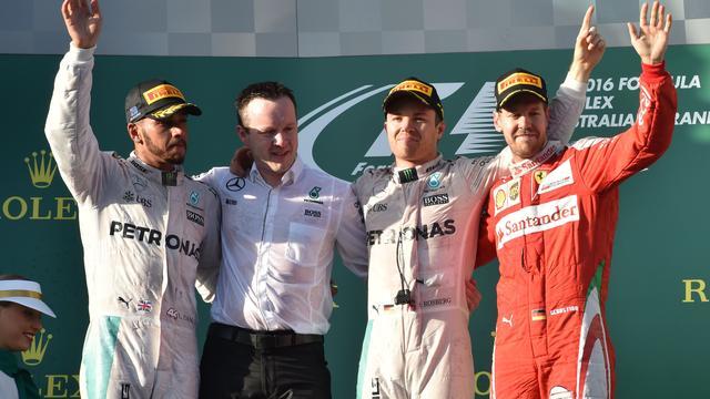 Rosberg en Hamilton op hun hoede voor Ferrari