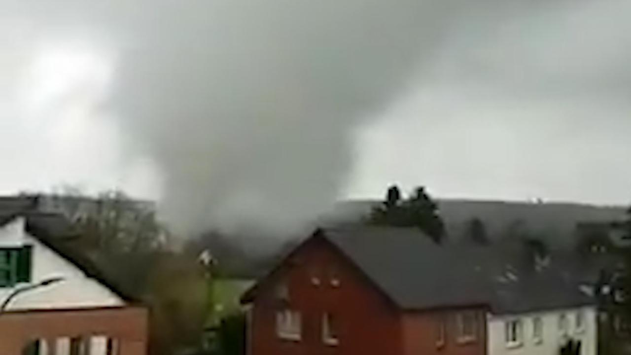 Tornado raast in buurt van Nederlandse grens met Duitsland