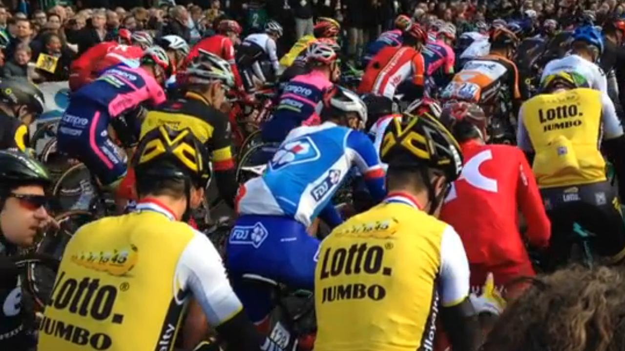 Start van honderste Ronde van Vlaanderen
