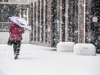 Vanaf 11:00 uur sneeuw in de stad