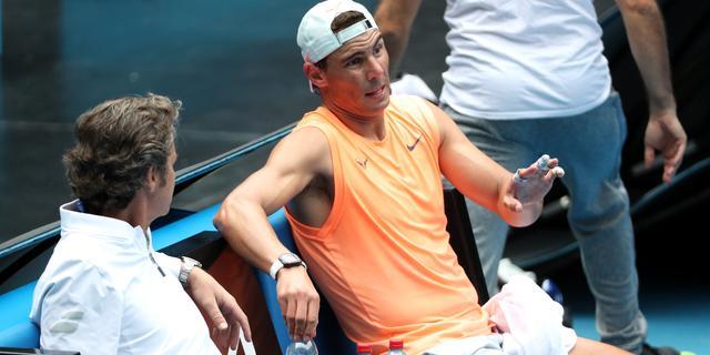 Nadal vlak voor start Australian Open nog altijd gehinderd door rugblessure