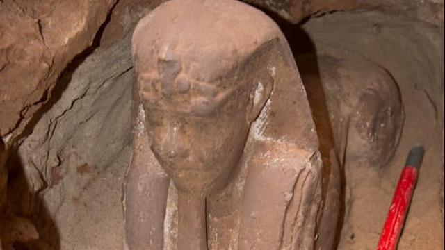 Egyptische archeologen ontdekken sfinx in tempel van Kom Ombo