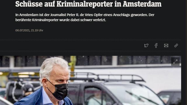 Het bericht op de Duitse site Der Spiegel.
