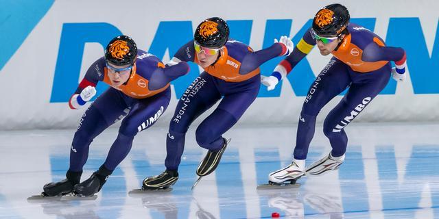 Nederlandse schaatsers winnen door te duwen: 'Zijn de goede weg ingeslagen'