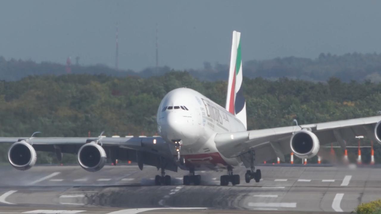 Piloot zet Airbus A380 ondanks hevige wind aan de grond in Düsseldorf