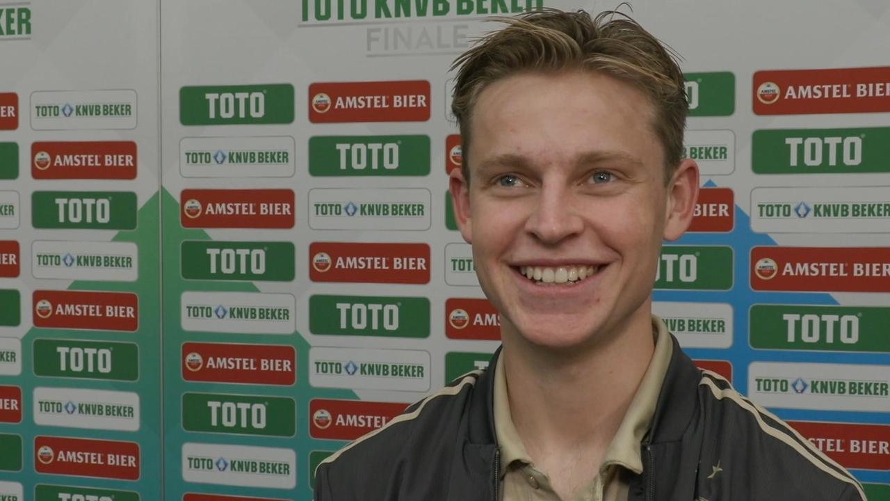Frenkie de Jong: 'Bekerwinst is steuntje in de rug'