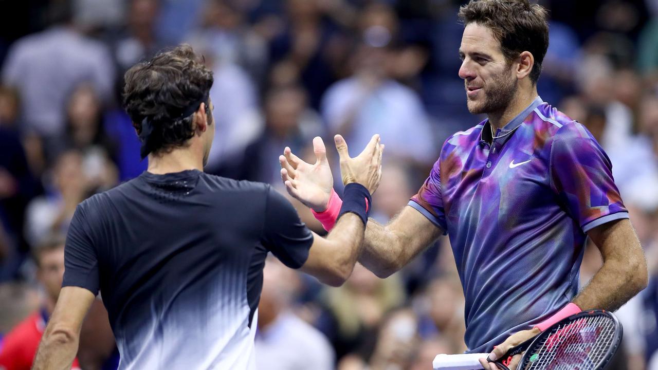 Del Potro te sterk voor Federer in kwartfinales US Open