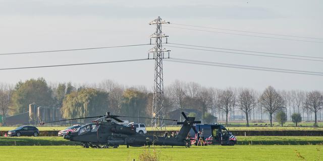 Marechaussee onderzoekt incident met helikopter Culemborg