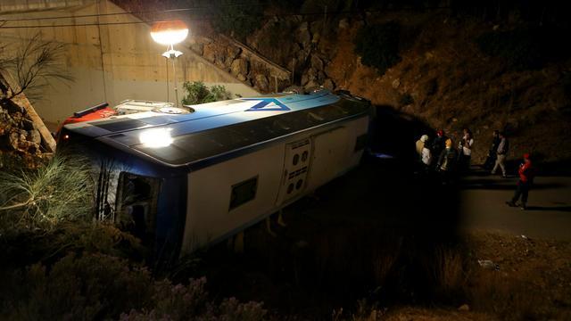 Eerste beelden van busongeluk in Portugal