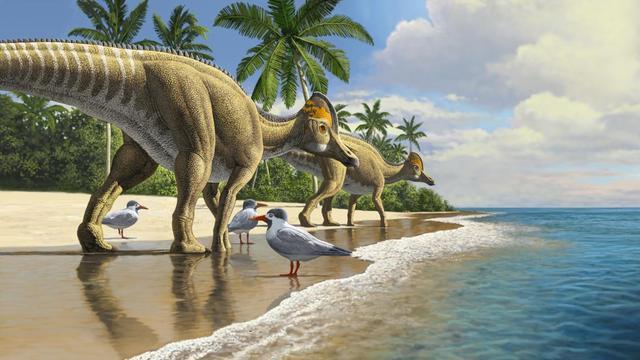 Eendensnaveldinosaurus zwom door kilometers diepe zee naar Afrika